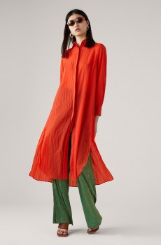 Vestido camisero espalda coleccion maiteplisada