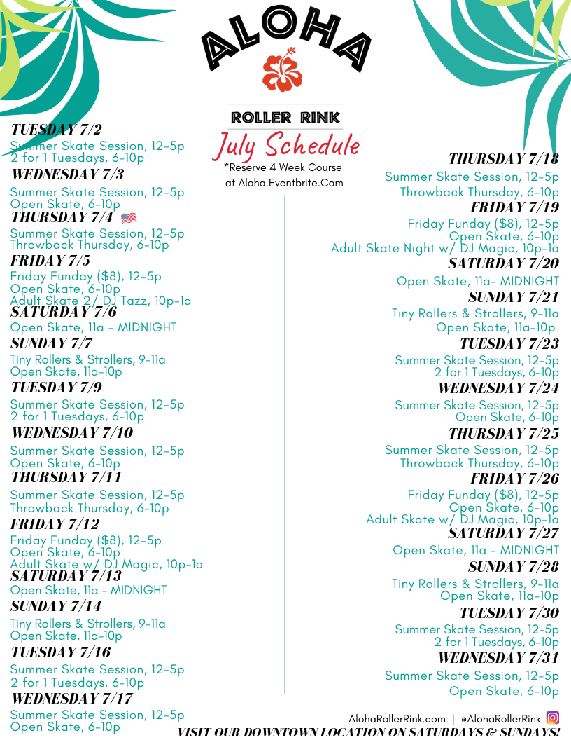 July Aloha ERC Schedule_2019