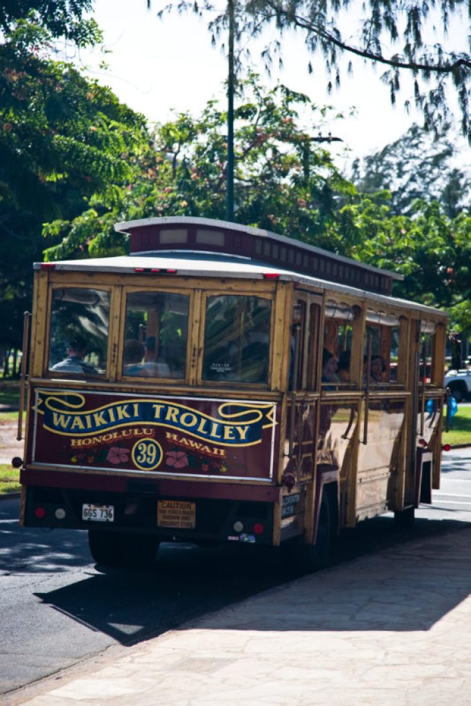 Oahu car rental: Waikiki trolley. Hawaii travel. Things to do in Oahu. Things to do in Hawaii.