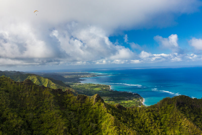 The magnificent view while flying to Hawaii.