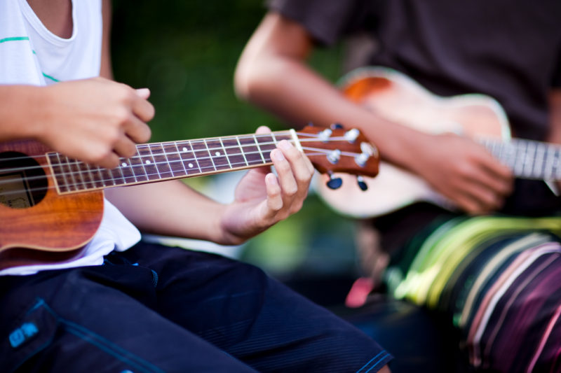 Ukulele lessons are all around in Hawaii.