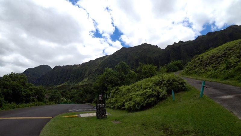 Koolau mountain range at Hoomaluhia Garden