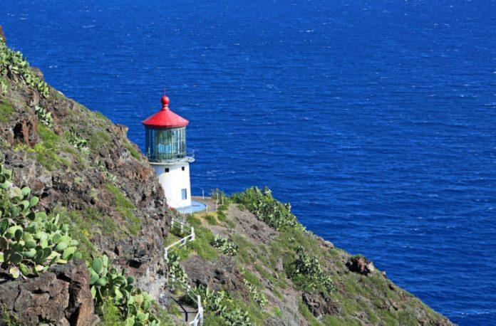 Halona blowhole is before the Makapuu lighthouse trail.