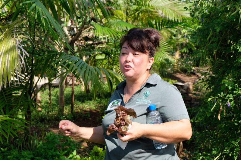 Our tour guide Tanya at Mari's Gardens was awesome!