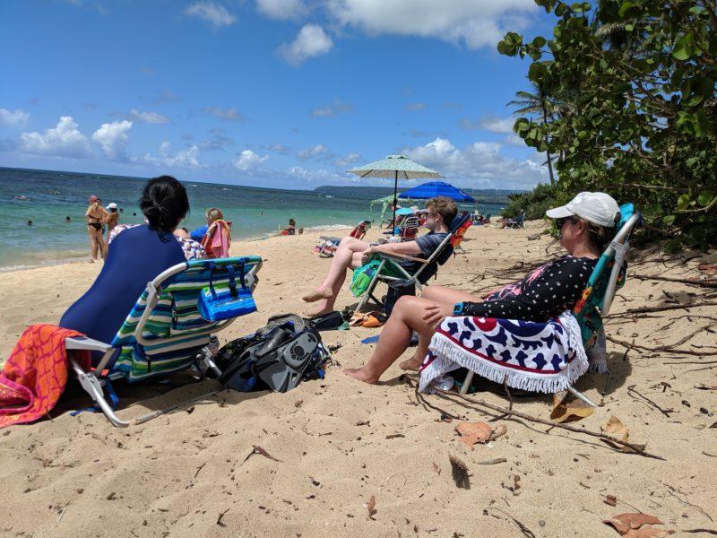 Get some sun at Aweoweo beach park.