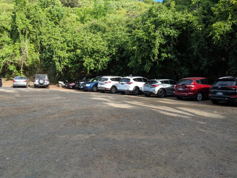 Parking lot for Makiki Valley Loop Trail.