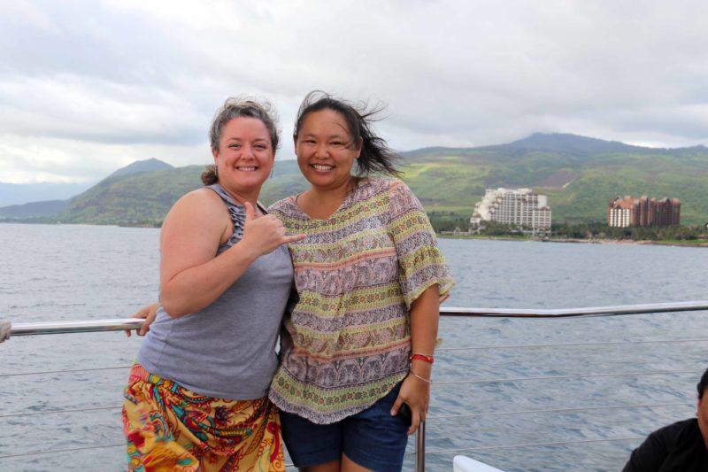 Sarah and I posing for a shot.