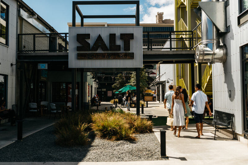 Shopping at SALT at our Kakaako.