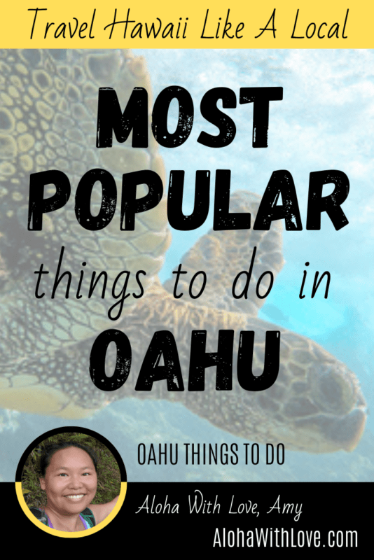 Pinterest Pin: Most Popular Things To Do In Oahu
