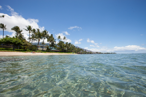 Baby Beach in Lahaina, Maui is calm, shallow, and clear.
