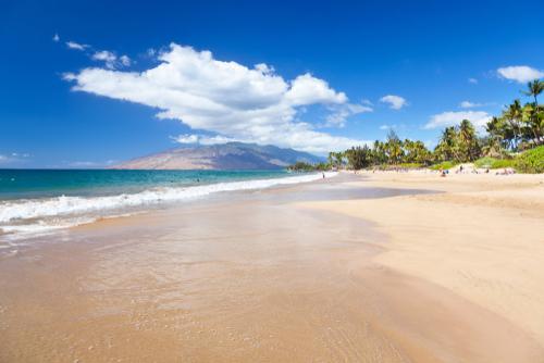 Beautiful Kamaole Beach in Kihei, Maui.
