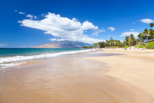 Beautiful Kamaole Beach in Kihei, Maui.