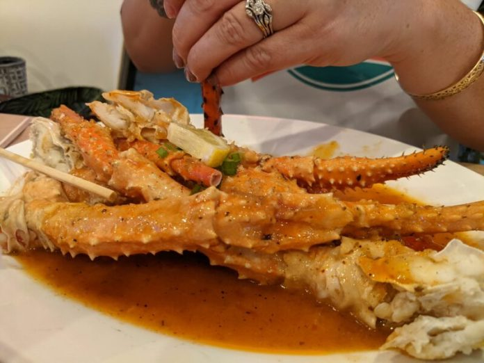 Sarah's order of King's Crab looked delicious.