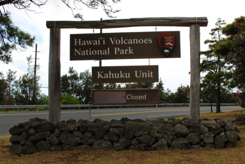 The entrance to the Kahuku Unit in Hawaii Volcanoes National Park. Editorial credit: Ty King / Shutterstock.com