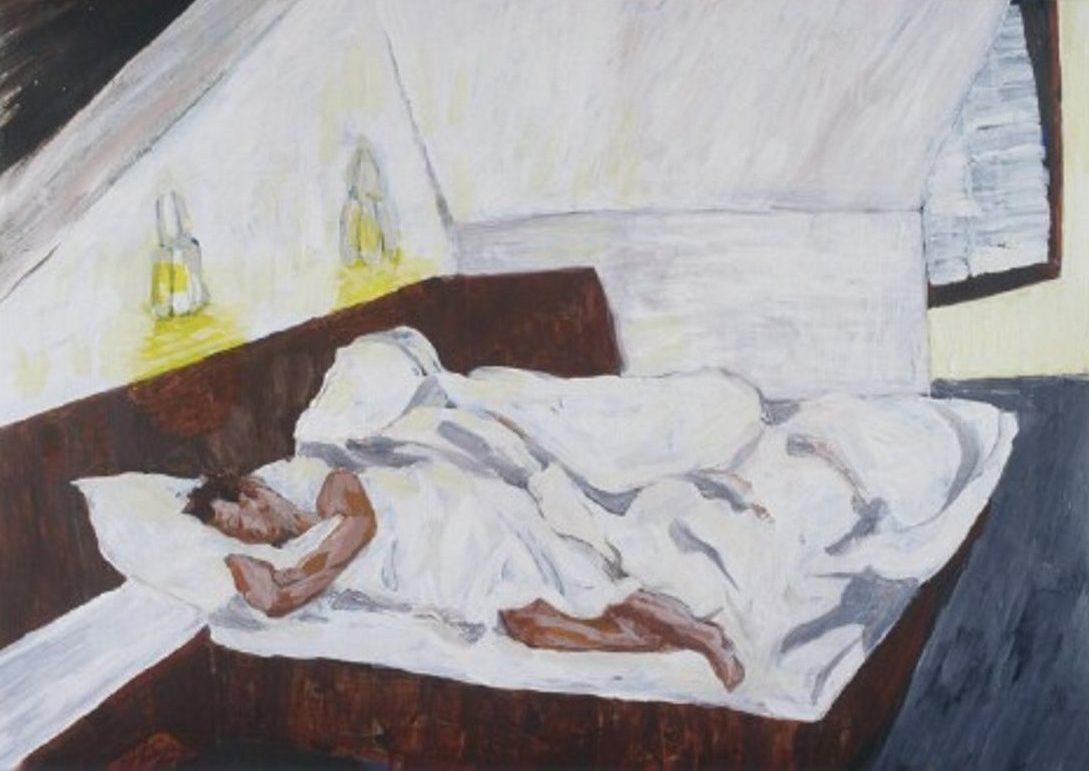 Pam Chadick Aloisa. Dormer in Munich. Acrylic on paper.