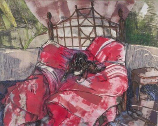 Pam Chadick Aloisa. Master's Bed. Mixed Media.