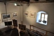 Ausstellungsaufbau im Brückturm