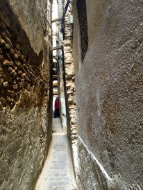 The skinny alleyway to our riad in Fes