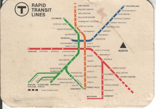1979 MBTA map