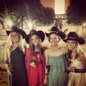 "UT Kappa's pose in cowboy hats after being selected as ""Cowboy's Sweethearts"" - Photo: Olivia Turgeon"
