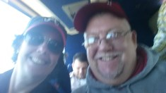 Me and my brother on the bus