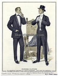 1912 Man in informal and formal dress