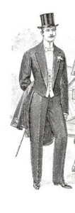 1912 Man in Top Hat and Dress Coat