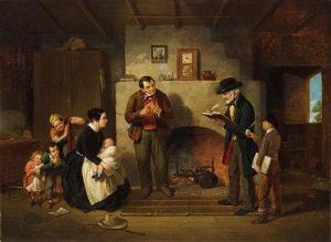 Early census taker with a family
