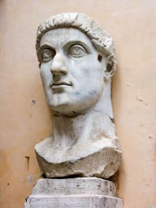 Constantine the Great brought Christianity and the celebration of Christian to Europe