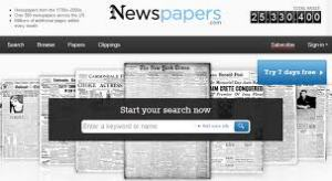 Newspapers.com is a subscription service with online newspapers