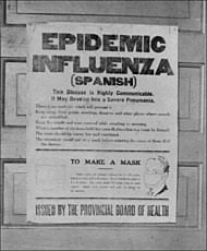U.S. Towns affected by influenza 1918