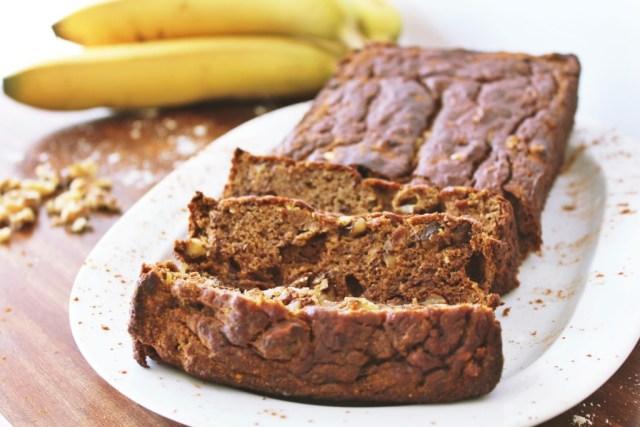 Skinny Banana Nut Bread recipe via A Lo Profile (www.aloprofile.com)