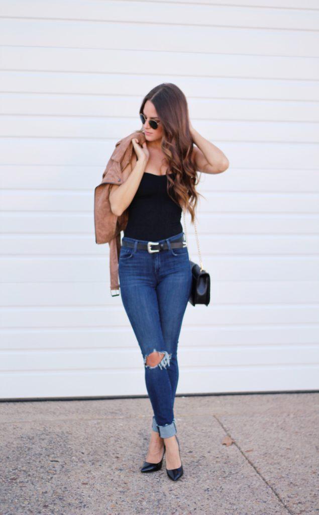 Black bodysuit via A Lo Profile