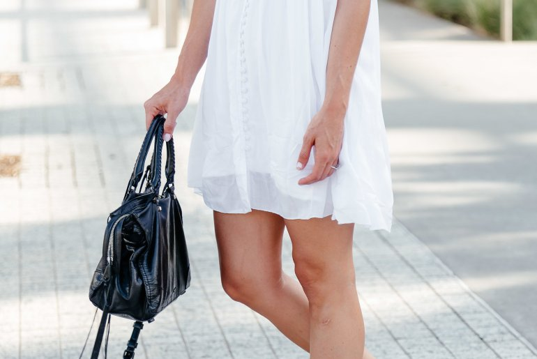 LWD: Little White Dress that can be worn so many ways throughout not only Summer, but all the seasons!
