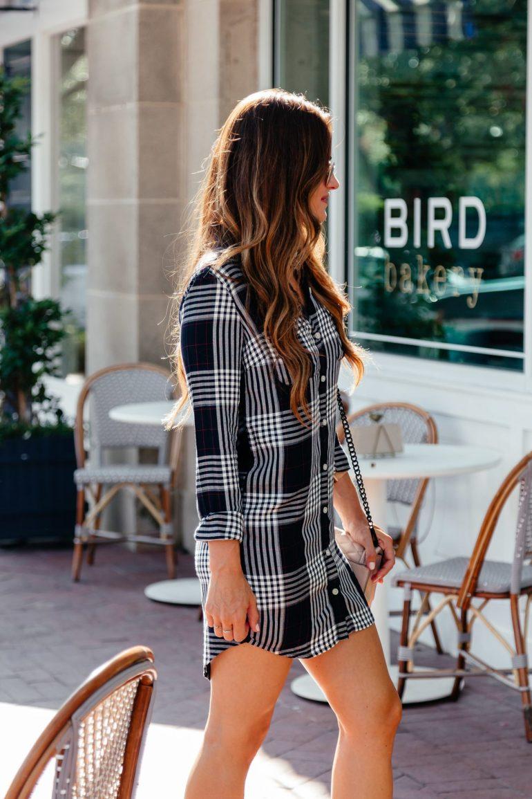 Shirt dress for Fall via A Lo Profile
