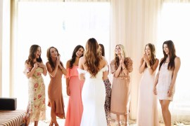 Wedding Wednesday via A Lo Profile-- first look with my girlfriends