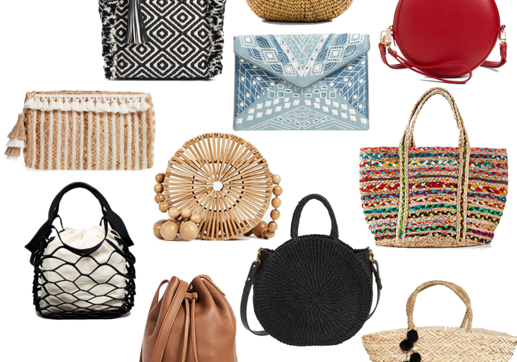 2018 spring bags: Dallas blogger sharing a roundup of her favorite bags for springs in all price ranges, sizes, and colors. #spring #springbags #collage