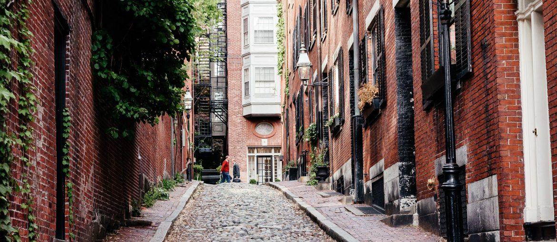 Acorn Street in Boston via A Lo Profile's Boston Travel Guide