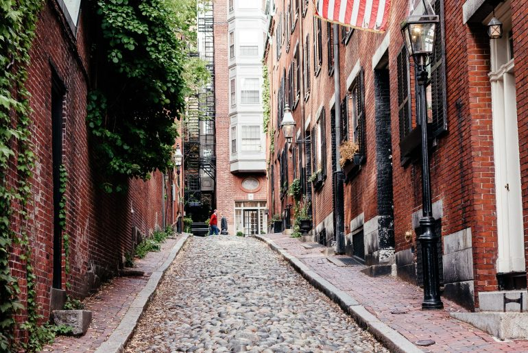 Acorn Street in Boston via A Lo Profile's Boston Travel Guide