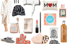 Collage of gift ideas for Mother's Day