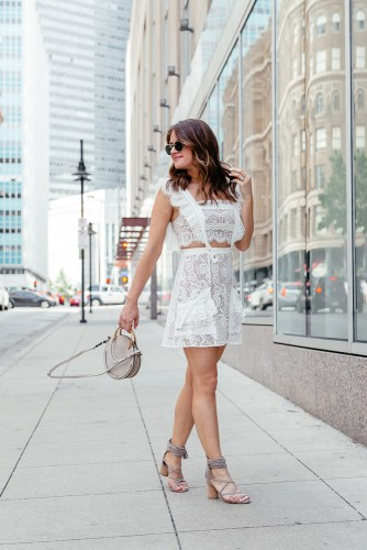 6729c8eb A Lo Profile wearing a white lace For Love and Lemons dress from eBay with a