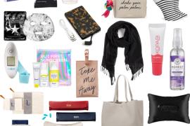 Collage featuring summer travel essentials