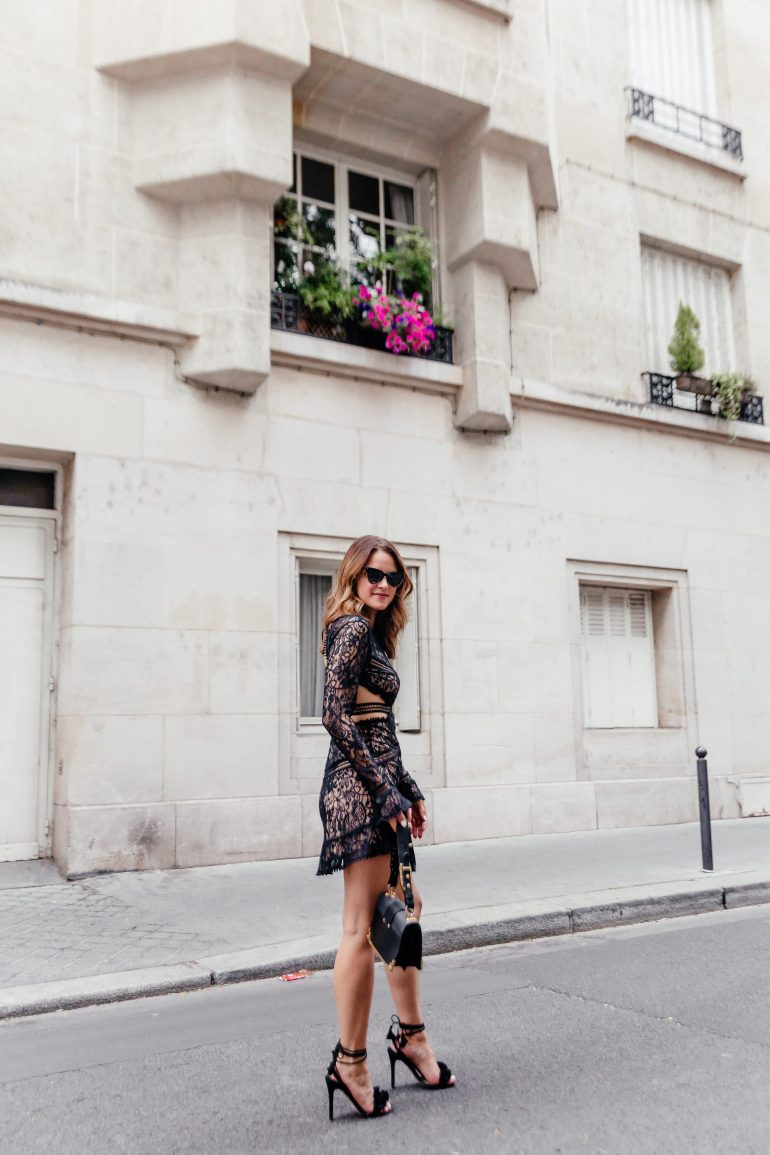 Backless LBD. Backless Little Black Dress. Little Black Dress. LBD in Paris. Backless LBD in Paris. Little Black Dress in Paris. For Love and Lemons Dress. For Love and Lemons Black Dress.