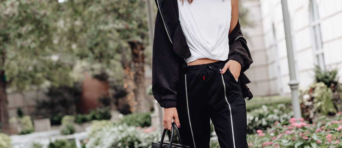 Sharing a casual streetwear look from the Waisted brand available at Macy's and why I love matching sweat sets like this one for an easy day time look.