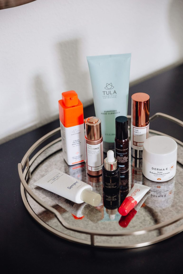I love to try new products so I feel like I am often switching up my routine. However, one thing I do feel like that sets me a part from a lot of people is I will use a product for at least thirty days (if not waiting until the bottle is empty) before sharing it with you all. I want to be sure that I notice a true difference and I personally believe that it takes time to truly see lasting results.