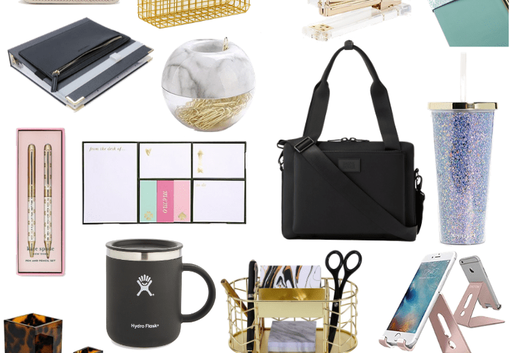 Sharing a collage featuring gifts for the workaholic or for anyone who may be a student, a business owner, or who just started a new job.