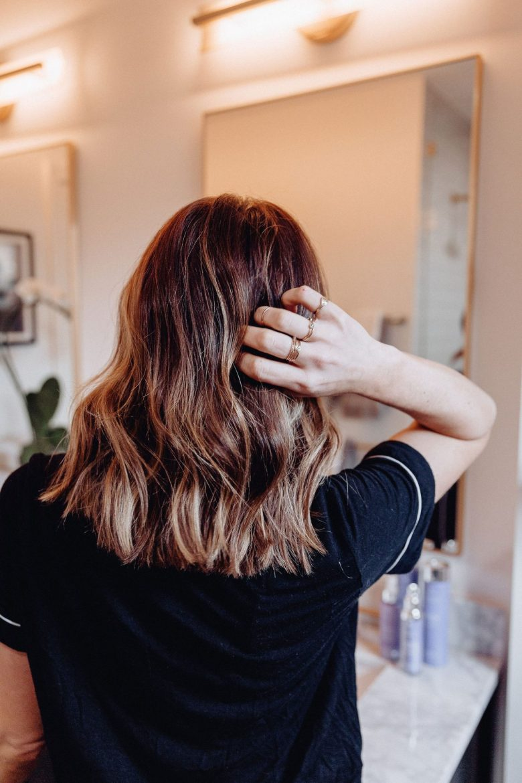 A Lo Profile, Hair Products, Dry Hair, Healthy Hair, Brunette Hair, Short Brunette Hair, Brunette Hair with Highlights, HIghlighted Hair, Medium Hair, Wavy Hair, Curled Hair, Beach Waves