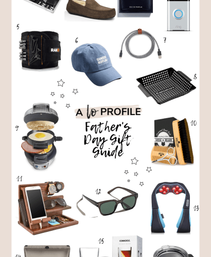 Sharing a shoppable Father's Day gift guide collage featuring gift ideas for every Dad in your life in a variety of price ranges.