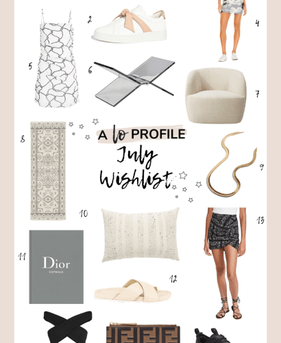 Sharing my July wishlist in an easy to shop collage with you all featuring everything I have been eyeing so far this month.