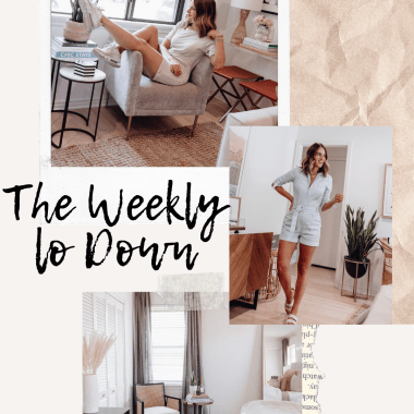 Sharing this week's edition of The Weekly Lo Down with my fav online finds, weekend sales, discount codes, recent blog posts, & more.